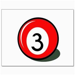 Billiard Ball Number 3 Canvas 11  X 14   by Valentinaart