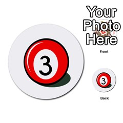 Billiard Ball Number 3 Multi Purpose Cards (round)  by Valentinaart