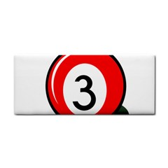 Billiard Ball Number 3 Hand Towel by Valentinaart