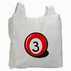 Billiard Ball Number 3 Recycle Bag (one Side) by Valentinaart