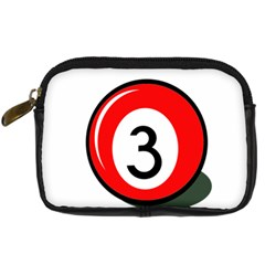 Billiard Ball Number 3 Digital Camera Cases by Valentinaart