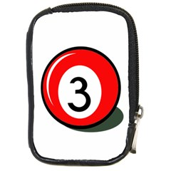 Billiard Ball Number 3 Compact Camera Cases by Valentinaart