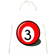 Billiard Ball Number 3 Full Print Aprons by Valentinaart