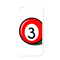 Billiard Ball Number 3 Apple Iphone 4 Case (white) by Valentinaart