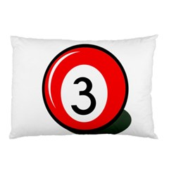 Billiard Ball Number 3 Pillow Case (two Sides) by Valentinaart