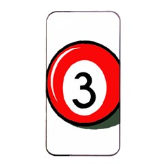 Billiard Ball Number 3 Apple Iphone 4/4s Seamless Case (black) by Valentinaart
