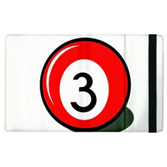 Billiard Ball Number 3 Apple Ipad 3/4 Flip Case by Valentinaart