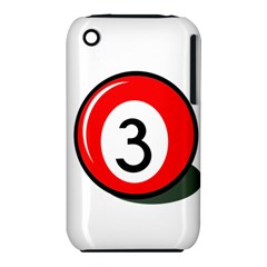 Billiard Ball Number 3 Apple Iphone 3g/3gs Hardshell Case (pc+silicone) by Valentinaart