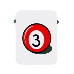 Billiard Ball Number 3 Apple Ipad 2/3/4 Protective Soft Cases by Valentinaart