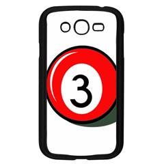 Billiard Ball Number 3 Samsung Galaxy Grand Duos I9082 Case (black) by Valentinaart