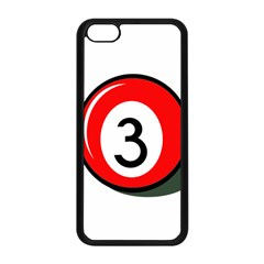 Billiard Ball Number 3 Apple Iphone 5c Seamless Case (black) by Valentinaart