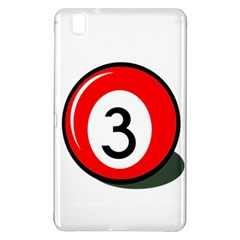 Billiard Ball Number 3 Samsung Galaxy Tab Pro 8 4 Hardshell Case by Valentinaart