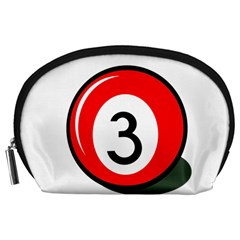 Billiard Ball Number 3 Accessory Pouches (large)  by Valentinaart