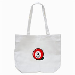 Billiard Ball Number 3 Tote Bag (white) by Valentinaart