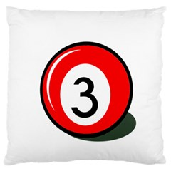 Billiard Ball Number 3 Large Flano Cushion Case (two Sides) by Valentinaart