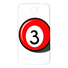 Billiard Ball Number 3 Samsung Galaxy Mega I9200 Hardshell Back Case by Valentinaart