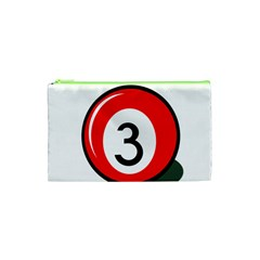 Billiard Ball Number 3 Cosmetic Bag (xs) by Valentinaart