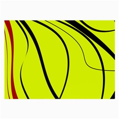 Yellow Decorative Design Large Glasses Cloth (2 Side) by Valentinaart