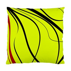 Yellow Decorative Design Standard Cushion Case (one Side) by Valentinaart