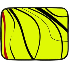 Yellow Decorative Design Double Sided Fleece Blanket (mini)  by Valentinaart