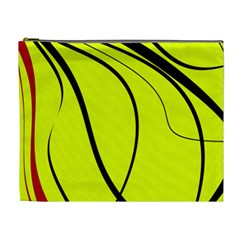 Yellow Decorative Design Cosmetic Bag (xl) by Valentinaart