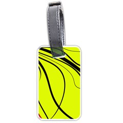 Yellow Decorative Design Luggage Tags (one Side)  by Valentinaart
