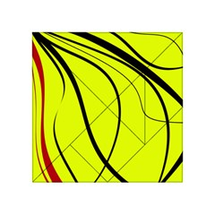 Yellow Decorative Design Acrylic Tangram Puzzle (4  X 4 ) by Valentinaart