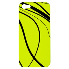 Yellow Decorative Design Apple Iphone 5 Hardshell Case by Valentinaart