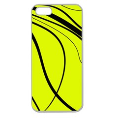 Yellow Decorative Design Apple Seamless Iphone 5 Case (clear) by Valentinaart