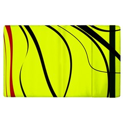 Yellow Decorative Design Apple Ipad 3/4 Flip Case by Valentinaart