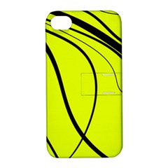 Yellow Decorative Design Apple Iphone 4/4s Hardshell Case With Stand by Valentinaart