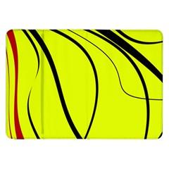 Yellow Decorative Design Samsung Galaxy Tab 8 9  P7300 Flip Case by Valentinaart