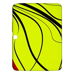 Yellow Decorative Design Samsung Galaxy Tab 3 (10 1 ) P5200 Hardshell Case  by Valentinaart