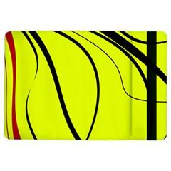 Yellow Decorative Design Ipad Air 2 Flip by Valentinaart