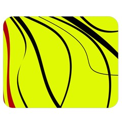 Yellow Decorative Design Double Sided Flano Blanket (medium)  by Valentinaart