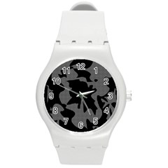 Decorative Elegant Design Round Plastic Sport Watch (m) by Valentinaart