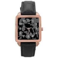 Decorative Elegant Design Rose Gold Leather Watch  by Valentinaart