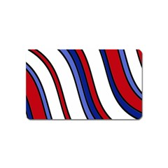 Decorative Lines Magnet (name Card) by Valentinaart