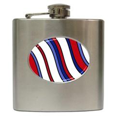 Decorative Lines Hip Flask (6 Oz) by Valentinaart