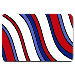 Decorative Lines Large Doormat  by Valentinaart