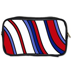 Decorative Lines Toiletries Bags 2 Side by Valentinaart