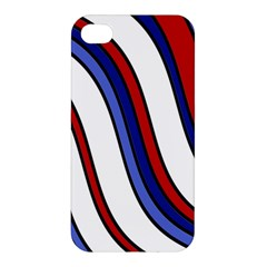 Decorative Lines Apple Iphone 4/4s Premium Hardshell Case by Valentinaart