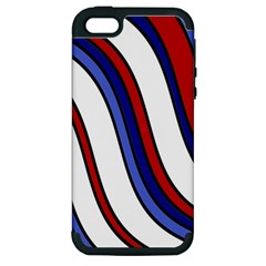Decorative Lines Apple Iphone 5 Hardshell Case (pc+silicone) by Valentinaart