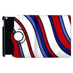 Decorative Lines Apple Ipad 3/4 Flip 360 Case by Valentinaart