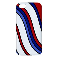 Decorative Lines Apple Iphone 5 Premium Hardshell Case by Valentinaart