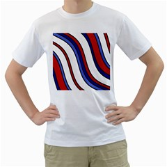 Decorative Lines Men s T Shirt (white)  by Valentinaart