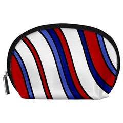 Decorative Lines Accessory Pouches (large)  by Valentinaart