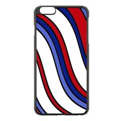 Decorative Lines Apple Iphone 6 Plus/6s Plus Black Enamel Case by Valentinaart