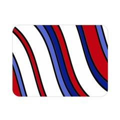 Decorative Lines Double Sided Flano Blanket (mini)  by Valentinaart