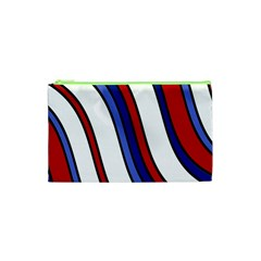 Decorative Lines Cosmetic Bag (xs) by Valentinaart